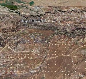 Сателитски снимак бушотина у Јути