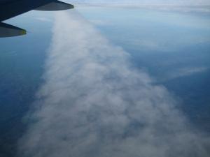 Кондензациони траг снимљен из авиона